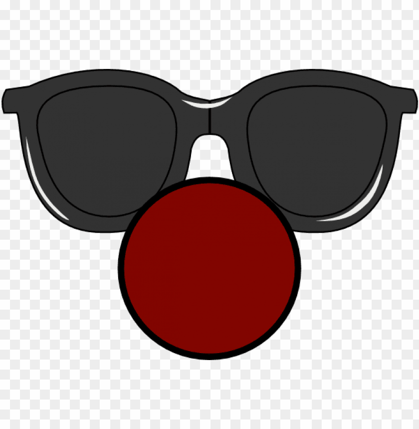 free PNG ose with clear glasses clip art at - clown nose with glasses PNG image with transparent background PNG images transparent