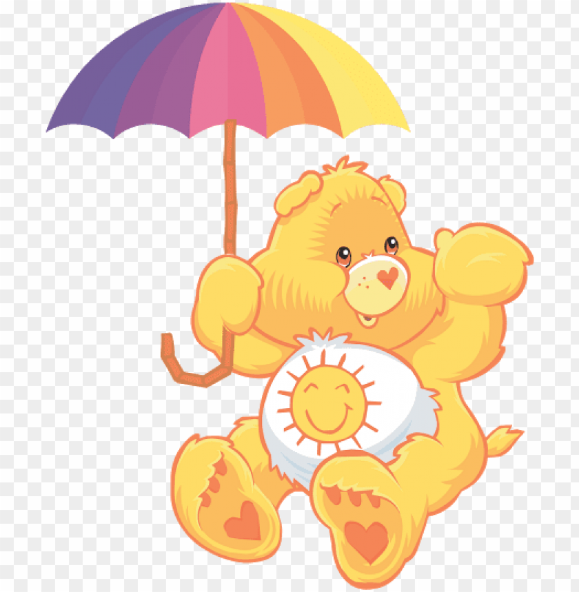 free PNG ositos cariñosos care bears, care bear party, bear - sunshine care bear PNG image with transparent background PNG images transparent