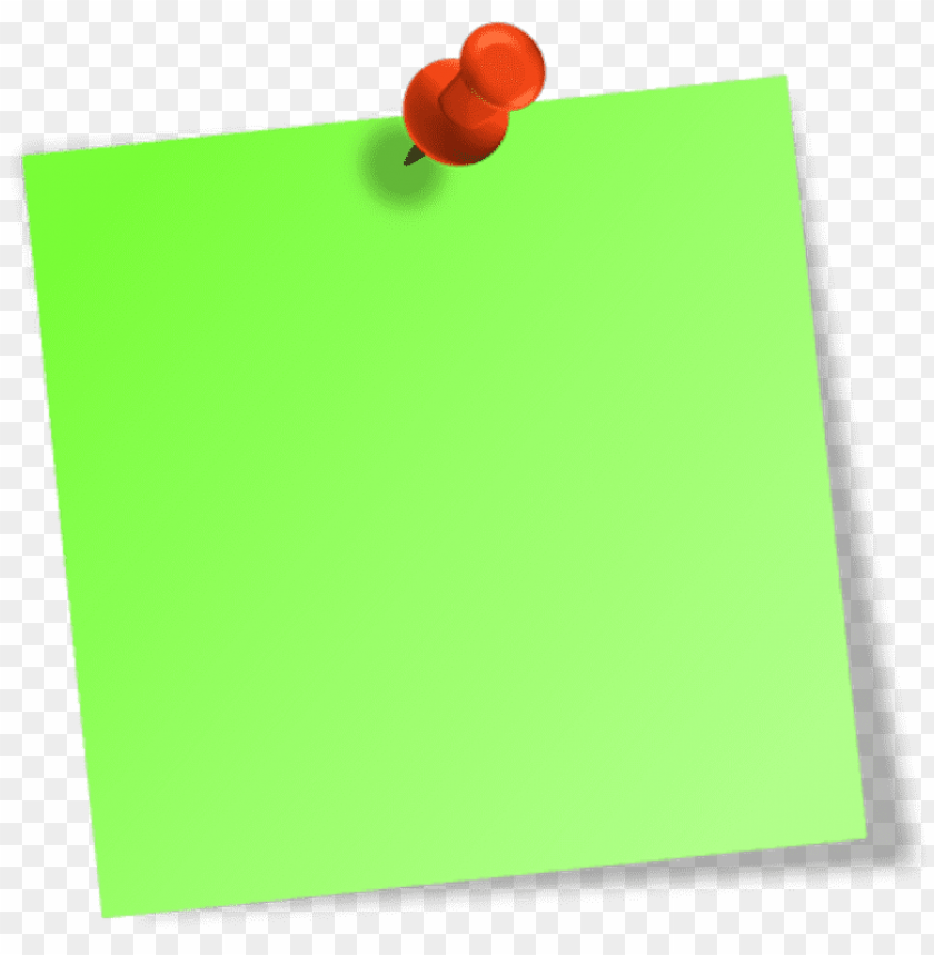 free PNG ost it note png - green sticky note PNG image with transparent background PNG images transparent