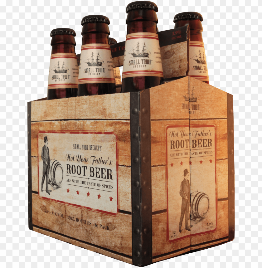 free PNG ot your father's root beer 6-pack - small town brewery not your father's root beer - 6 PNG image with transparent background PNG images transparent