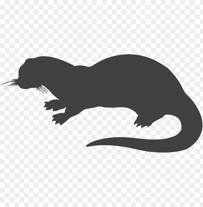 free PNG otter clipart transparent pencil and in color otter - otter silhouette PNG image with transparent background PNG images transparent