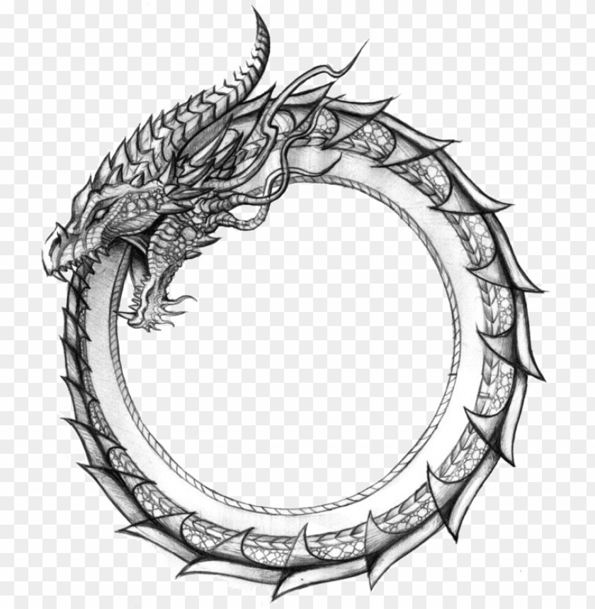 free PNG ouroboros transparent serpiente - jormungandr tattoo PNG image with transparent background PNG images transparent