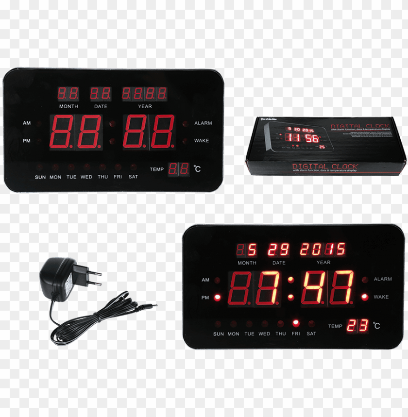 free PNG out of the blue plastic digital alarm clock PNG image with transparent background PNG images transparent
