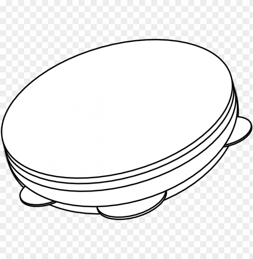 free PNG outline - pandeiro PNG image with transparent background PNG images transparent