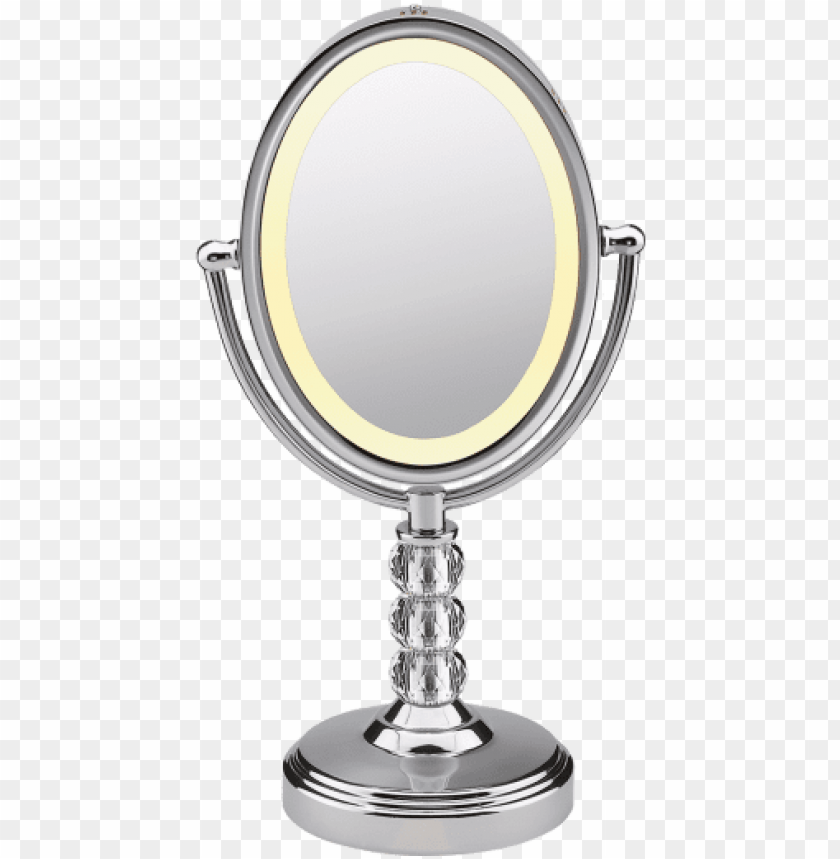 free PNG oval crystal ball accent mirror - conair be71ct makeup mirror - polished chrome PNG image with transparent background PNG images transparent