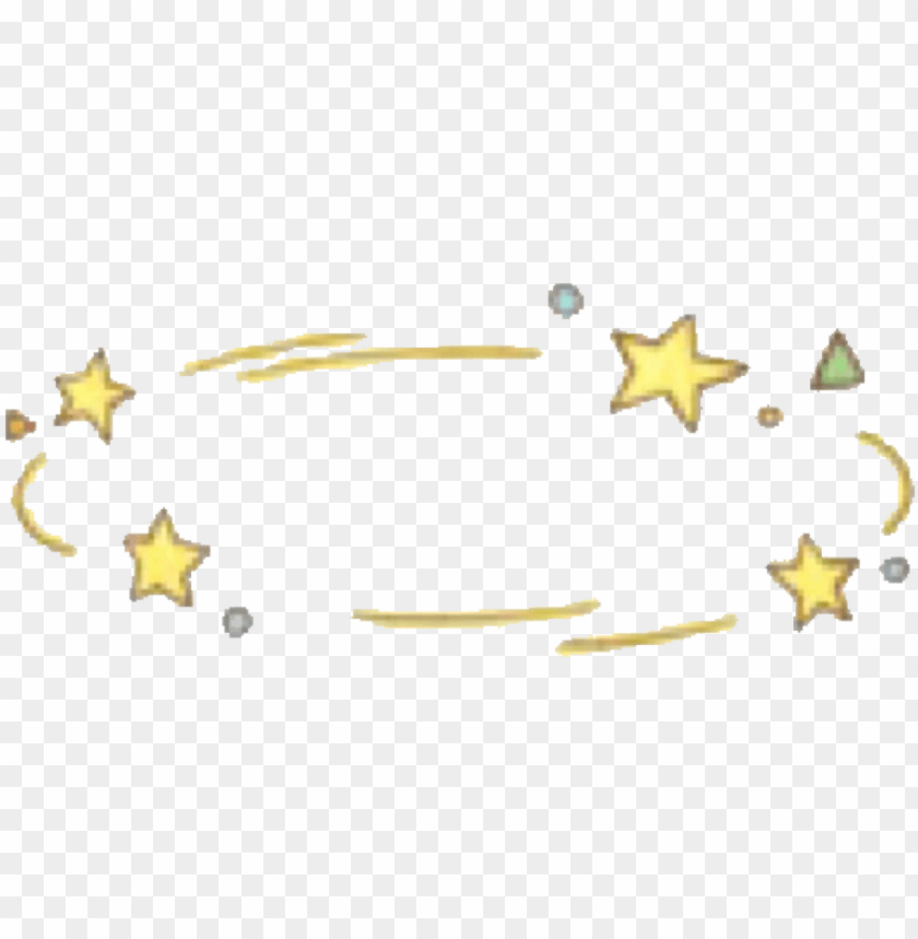 free PNG overlay crown star space planet tumblr stars yellow - galaxy crown for picsart PNG image with transparent background PNG images transparent