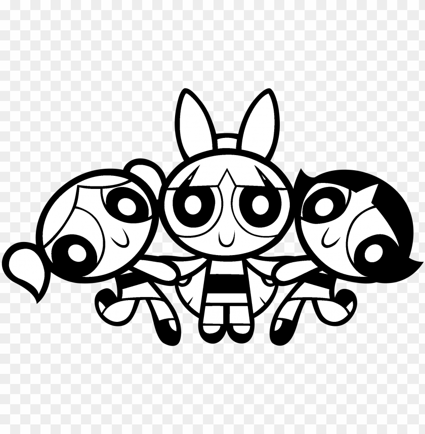 free PNG owerpuff girls logo black and white - powerpuff girls logo PNG image with transparent background PNG images transparent