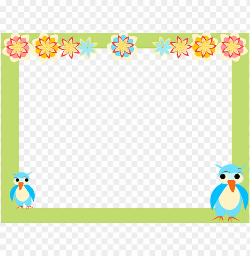 free PNG owl scrapbooking paper for kids and digital owl frame - owl borders and frames PNG image with transparent background PNG images transparent