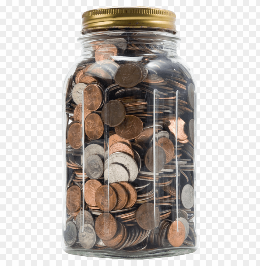 free PNG Download Packed in a jar of coins png images background PNG images transparent