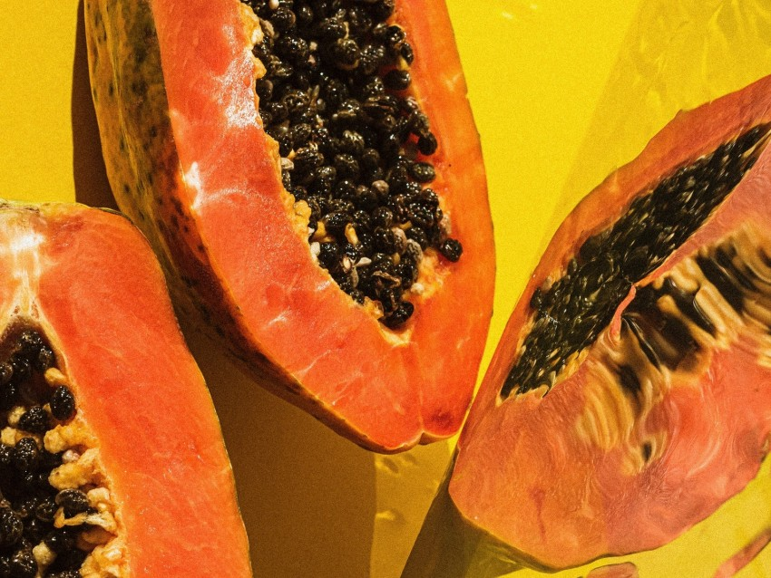 free PNG papaya, fruit, tropical, exotic, ripe background PNG images transparent
