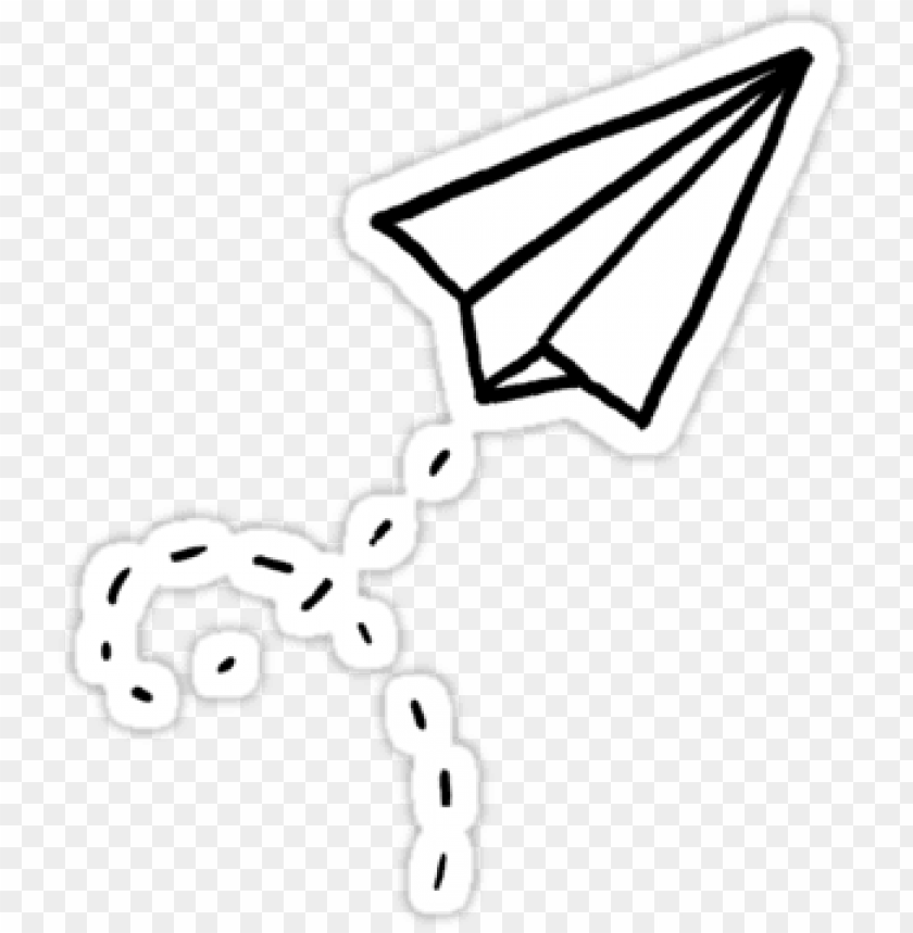 Paper Airplane Sticker Png Image With Transparent Background Toppng