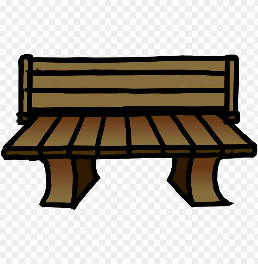 Park Bench Cartoon Png Image With Transparent Background Toppng