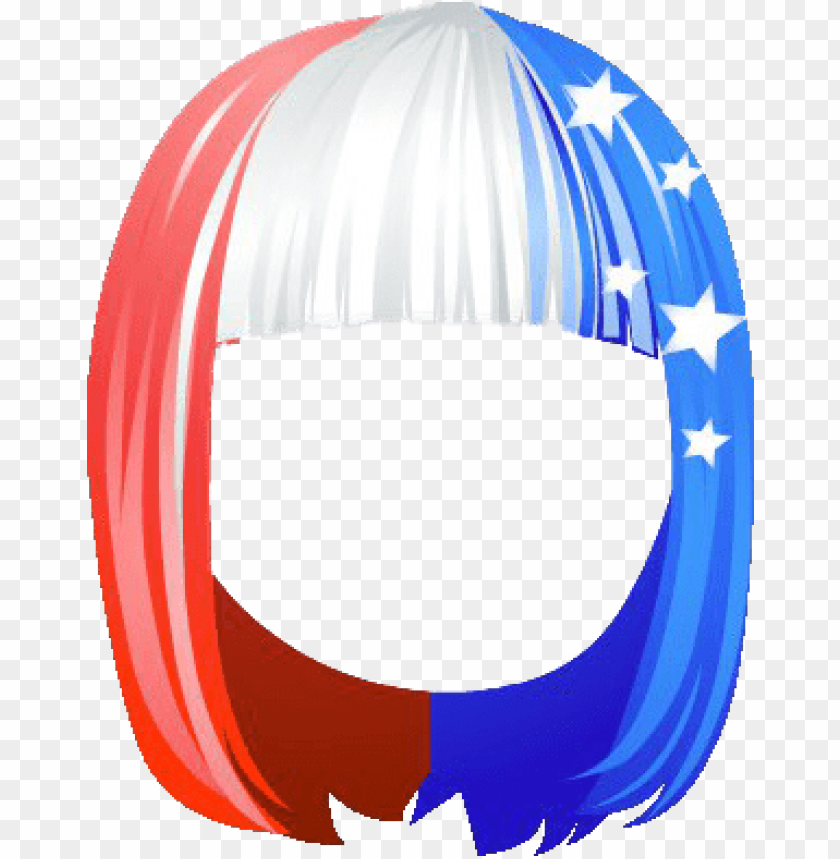 free PNG patriotic fringe hair trlor png - Free PNG Images PNG images transparent