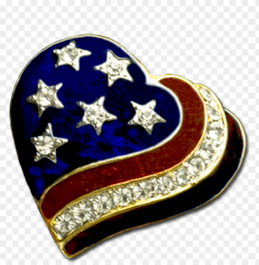 free PNG patriotic heart brooch/pin PNG image with transparent background PNG images transparent