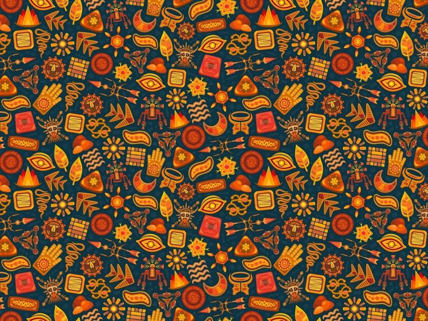 free PNG pattern, symbols, ethnic, magic, color, design background PNG images transparent