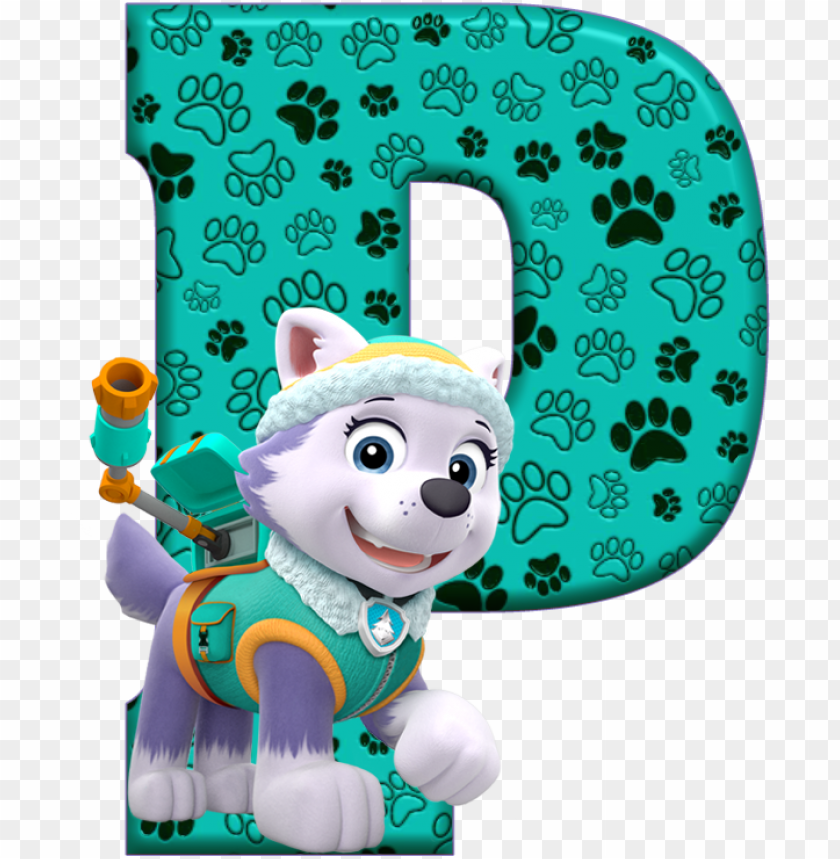 *✿**✿*p*✿**✿*de alfabeto decorativo - paw patrol letter PNG image with transparent background@toppng.com