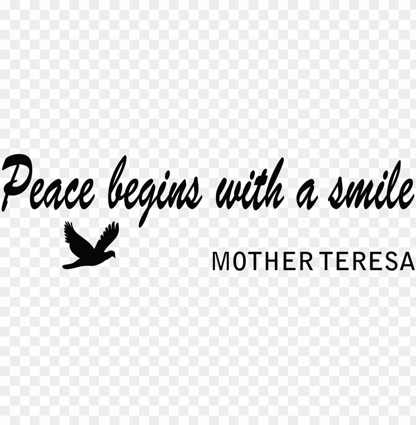free PNG peace begins with a smile PNG image with transparent background PNG images transparent