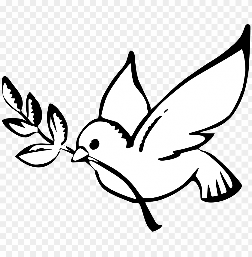 free PNG peace dove black and white PNG image with transparent background PNG images transparent