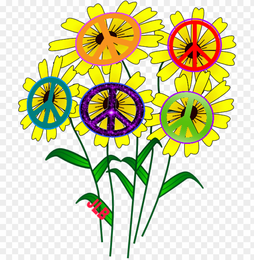 free PNG peace flower power peace groovy pinterest peace and - mother's day daisies tile coaster PNG image with transparent background PNG images transparent