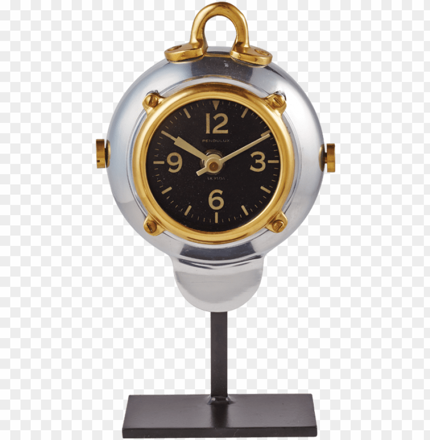 pendulux rover table clock aluminum PNG image with transparent background@toppng.com
