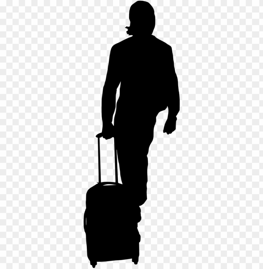 free PNG People with Luggage Silhouette png - Free PNG Images PNG images transparent