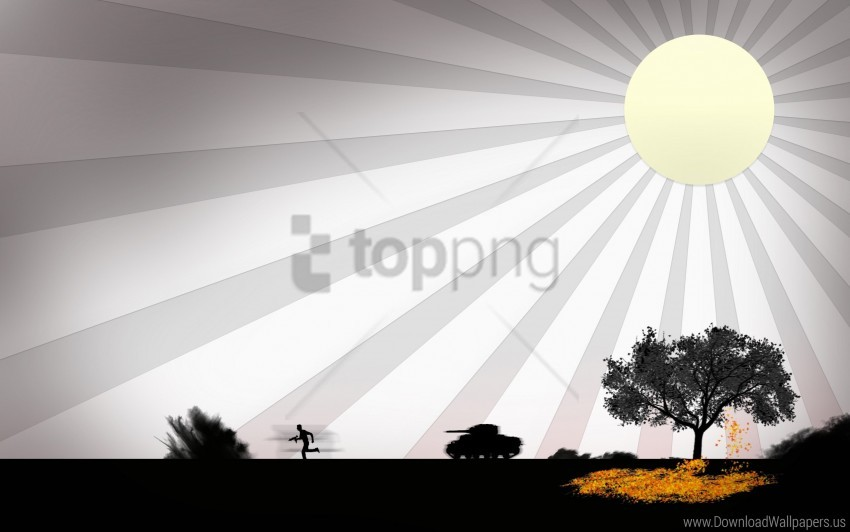 free PNG person, shooting, sun, tank, tree wallpaper background best stock photos PNG images transparent