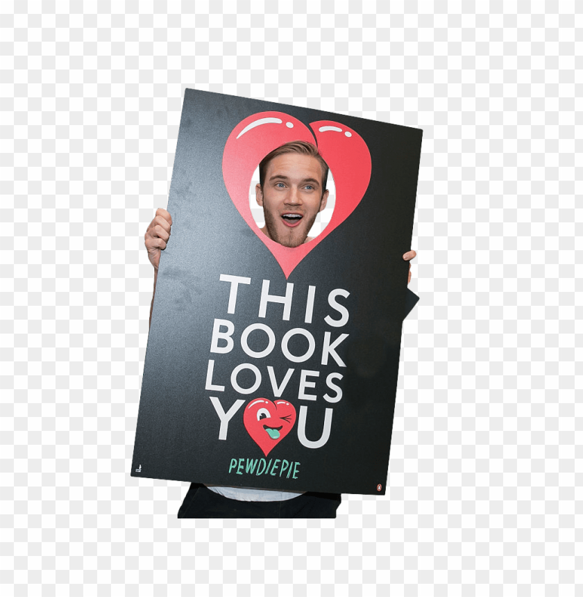 free PNG pewdiepie holding sign png - Free PNG Images PNG images transparent