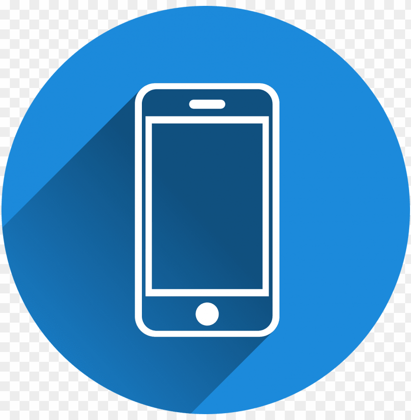 Phone Icon Blue Mobile Icon Png Free Png Images Toppng