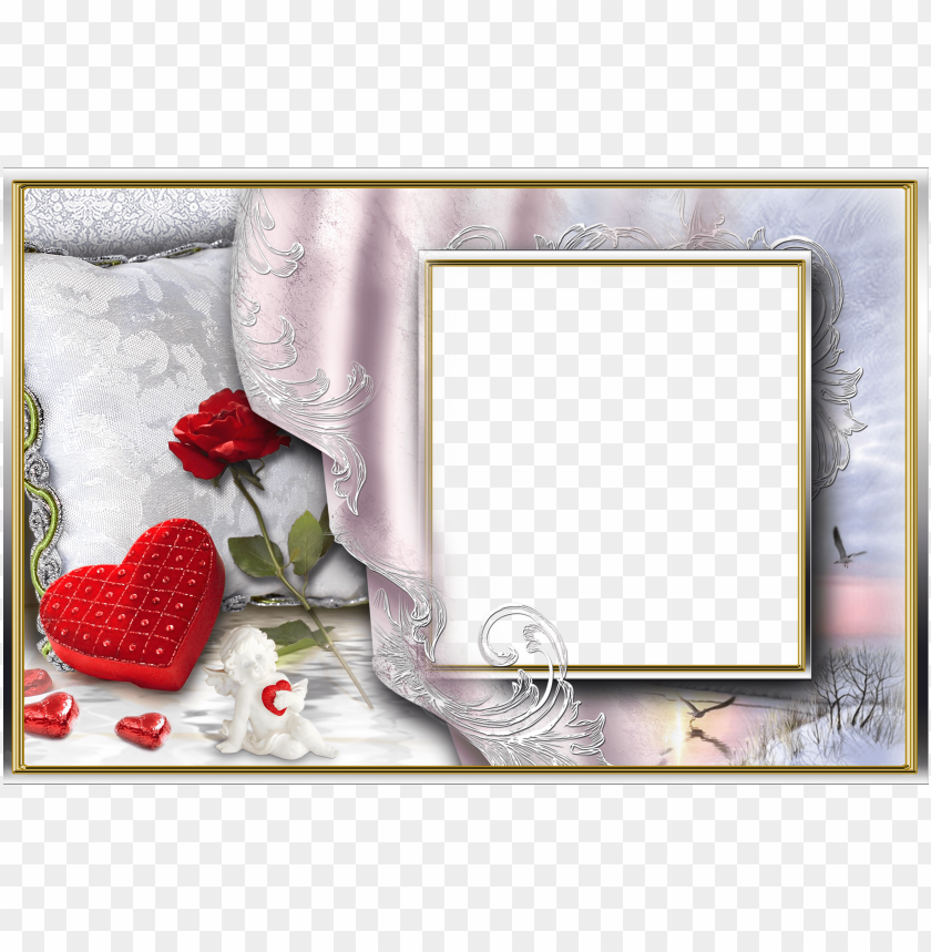 free PNG photo, love frames, picture frames, william shakespeare, - double photo frame PNG image with transparent background PNG images transparent