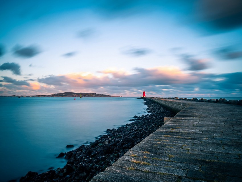 free PNG pier, lighthouse, sea, coast, dublin, ireland background PNG images transparent