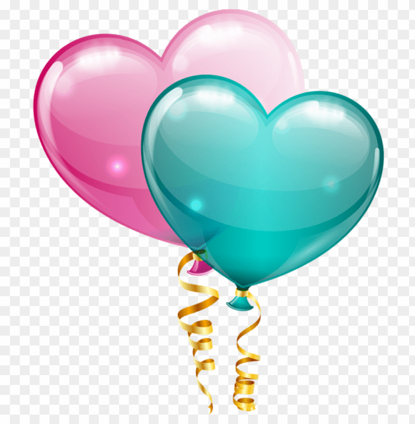 Download Pink And Blue Heart Balloons Png Images Background Toppng