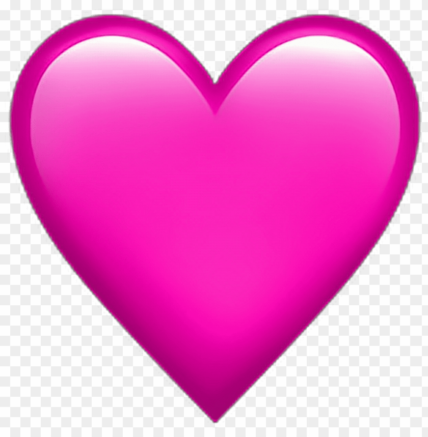 free PNG •pink heart ❤ pinkheart emoji emoticon iphone iphoneem - heart emoji no background PNG image with transparent background PNG images transparent