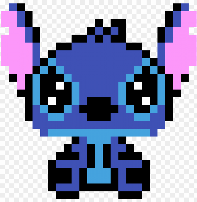 Pixel Art Disney Stitch Png Image With Transparent