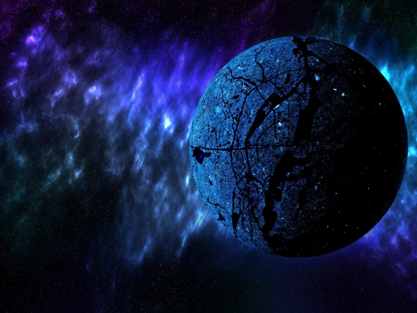 free PNG planet, space, universe, galaxy, blue background PNG images transparent