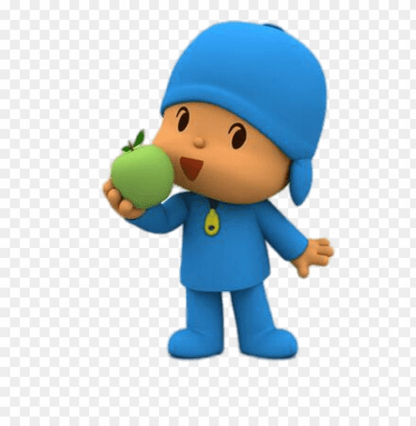 free PNG Download pocoyo eating an apple clipart png photo   PNG images transparent