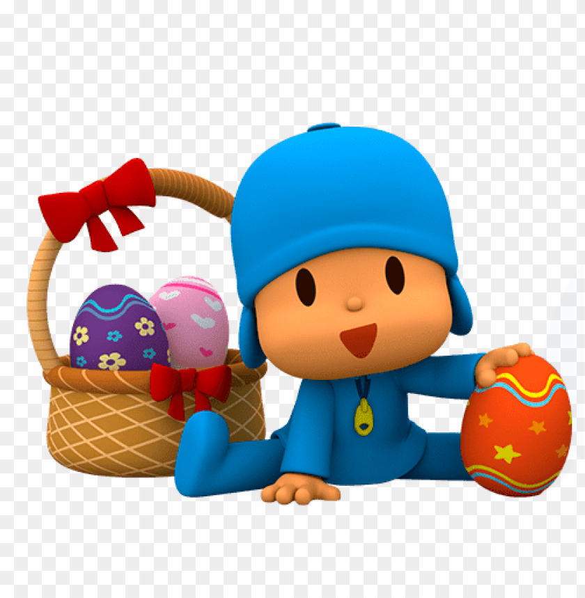 free PNG Download pocoyo found easter eggs clipart png photo   PNG images transparent