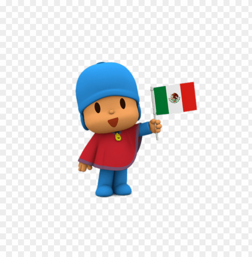 free PNG Download pocoyo holding mexican flag clipart png photo   PNG images transparent