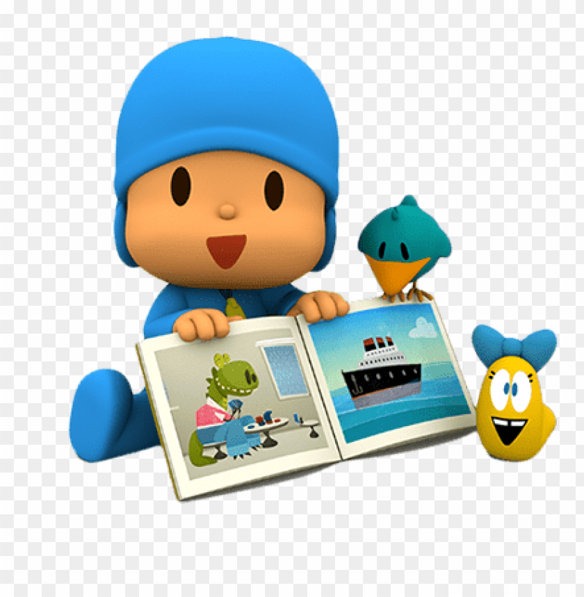 free PNG Download pocoyo looking at book clipart png photo   PNG images transparent