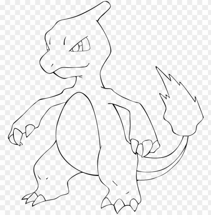 Pokemon Charmeleon Coloring Pages Png Image With Transparent Background Toppng