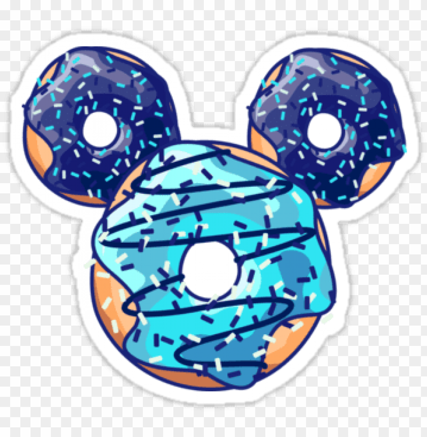 "free PNG ""pop blue donut"" stickers by xooxoo - stickers tumblr donut mickey PNG image with transparent background PNG images transparent"