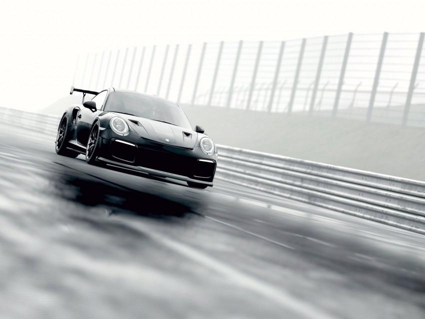 free PNG porsche 911 gt2 rs, porsche 911, porsche, sports car, racing, fog background PNG images transparent