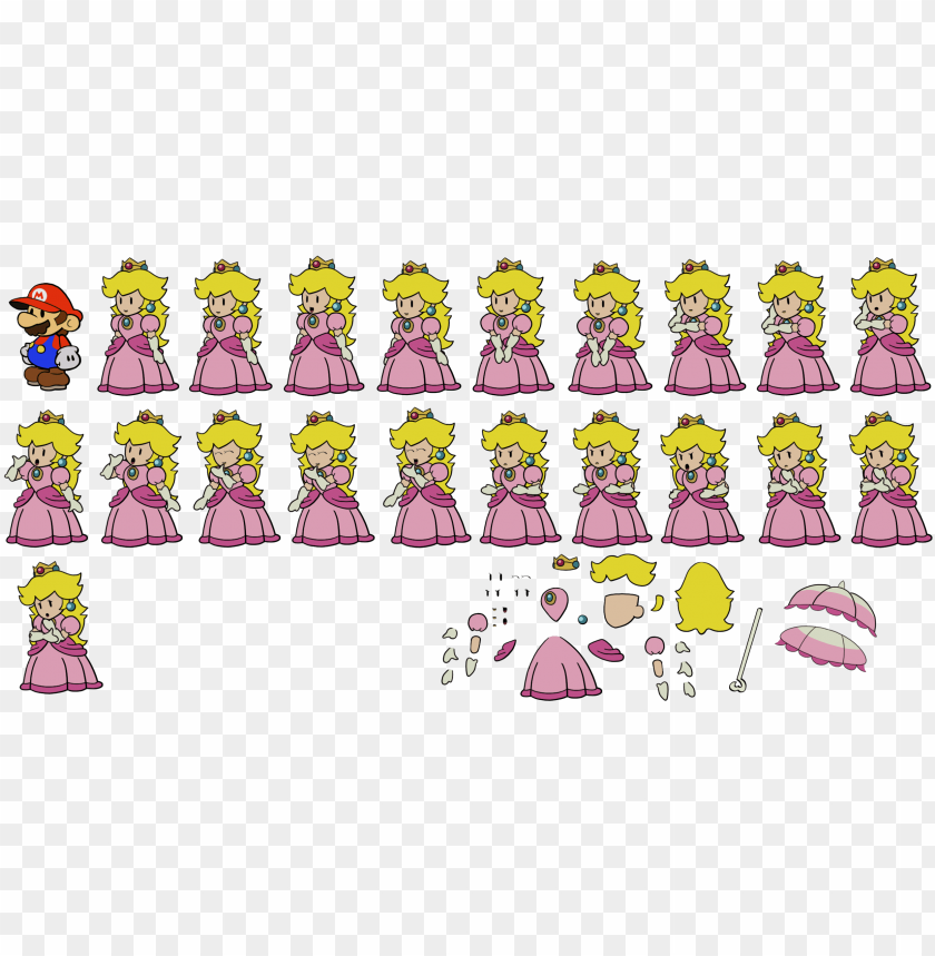 free PNG princess peach paper mario PNG image with transparent background PNG images transparent
