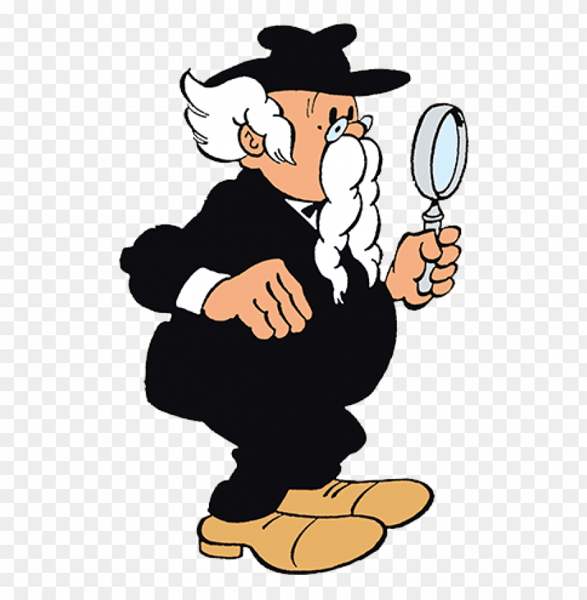 free PNG professor gobelijn holding a magnifying glass PNG image with transparent background PNG images transparent