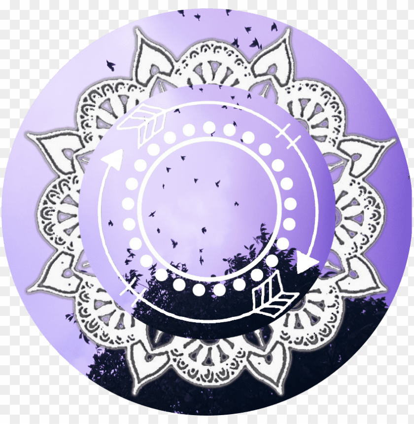 free PNG purple icon overlay overlays icon mandala circleoverlay - mandala icon overlay png - Free PNG Images PNG images transparent