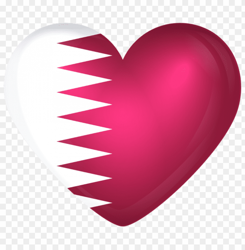 free PNG Download qatar large heart flag clipart png photo   PNG images transparent
