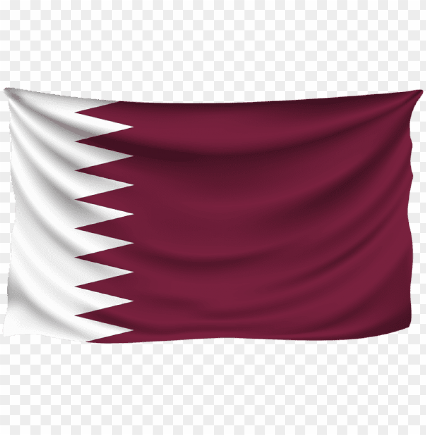 free PNG Download qatar wrinkled flag clipart png photo   PNG images transparent