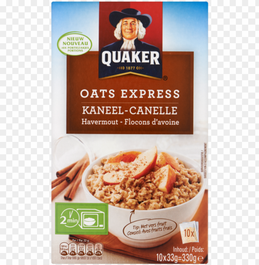 free PNG quaker oats express kaneel havermout portiezakjes - quaker oatmeal, instant, flavor variety - 7 packets, PNG image with transparent background PNG images transparent