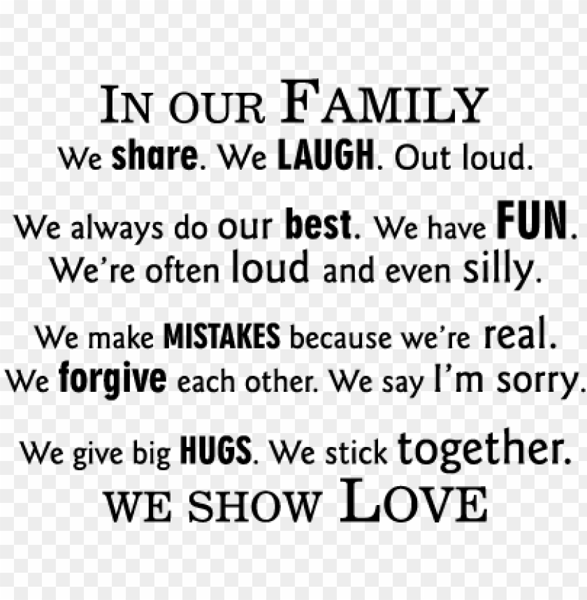 free PNG quotes about family togetherness - family stick together PNG image with transparent background PNG images transparent