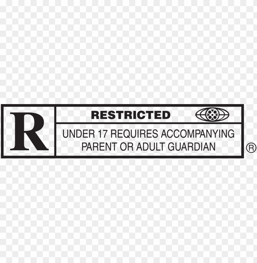 free PNG r rating - rated r PNG image with transparent background PNG images transparent