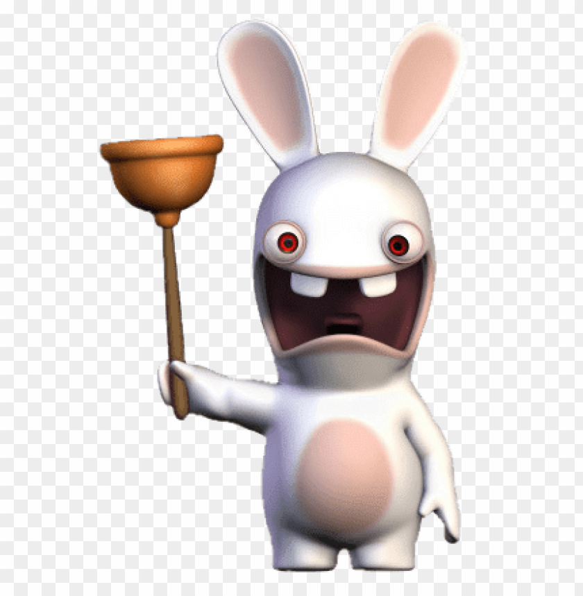 free PNG Download rabbid holding toilet plug clipart png photo   PNG images transparent